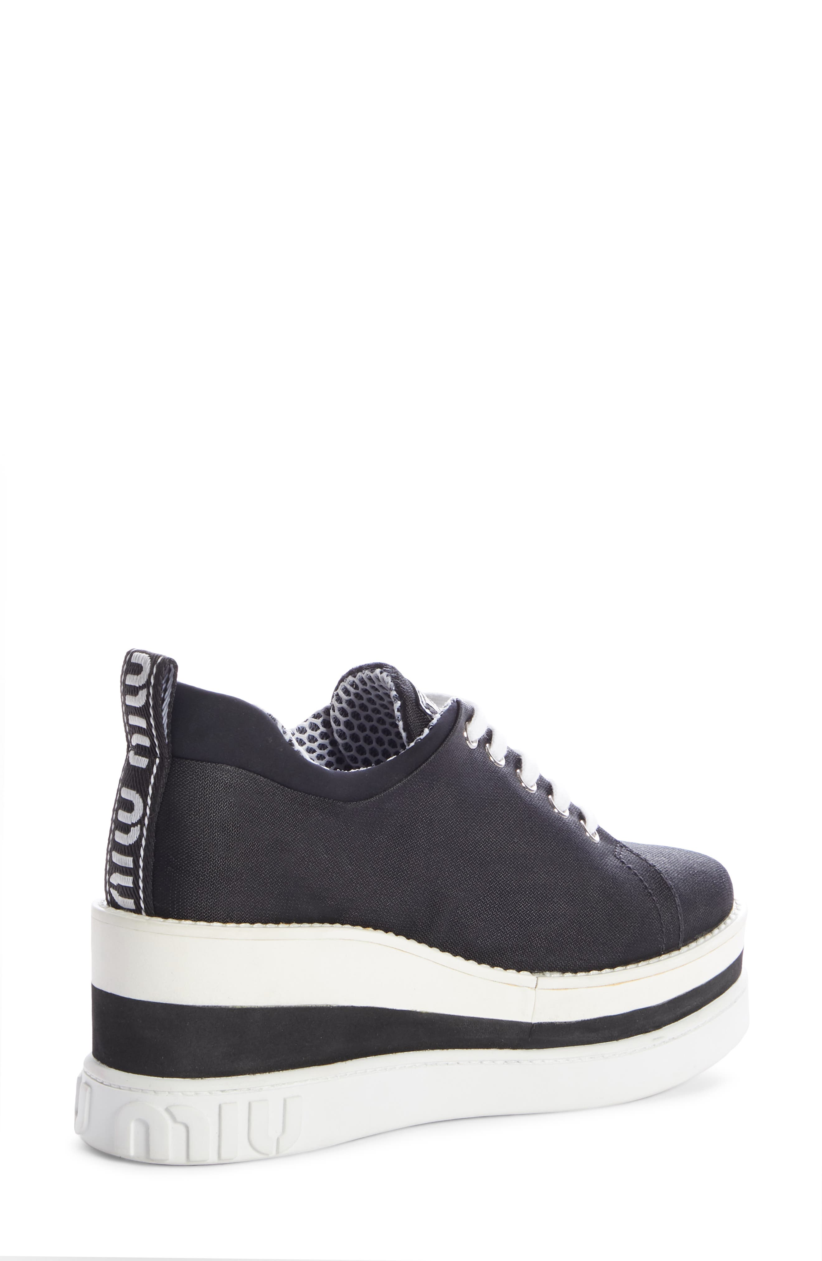 ,                             Platform Wedge Sneaker,                             Alternate thumbnail 2, color,                             BLACK
