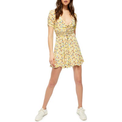 Free People Forget Me Not Floral Minidress, Ivory