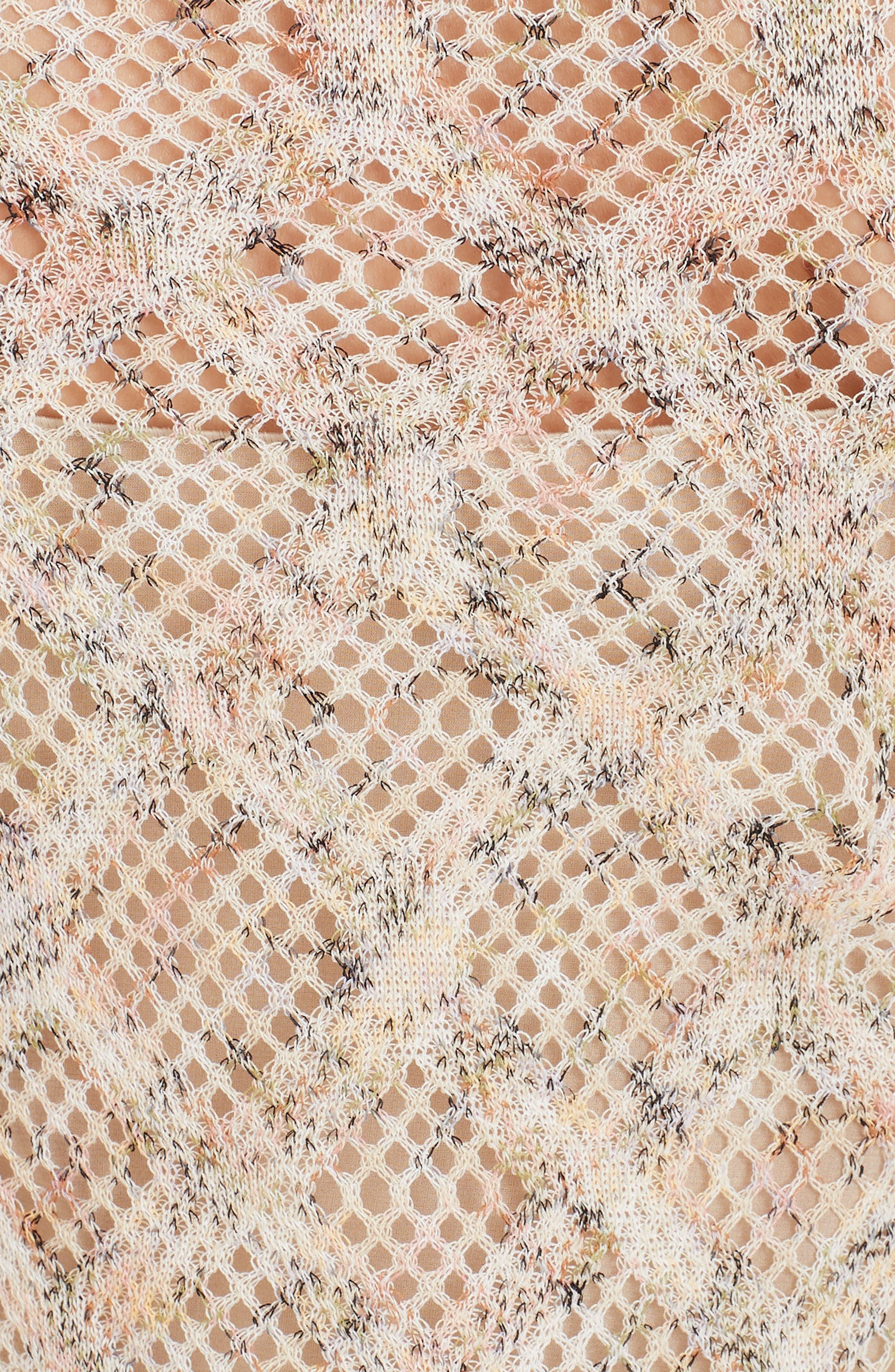 ,                             Cotton Pointelle Sweater Dress,                             Alternate thumbnail 5, color,                             BEIGE