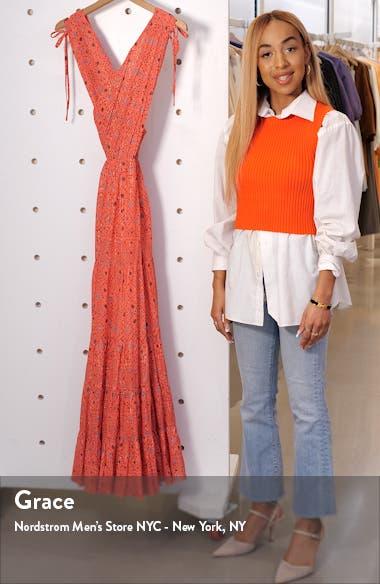 Karima Metallic Cutout Maxi Dress, sales video thumbnail