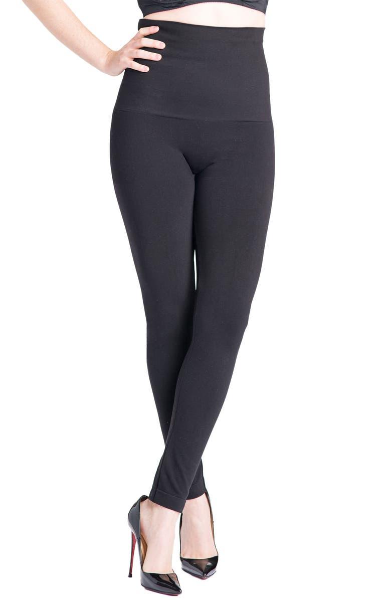PREGGO LEGGINGS Snapback Postpartum Leggings, Main, color, BLACK