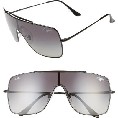 Ray-Ban Wings Ii 6m Square Shield Sunglasses - Black/ Black Gradient