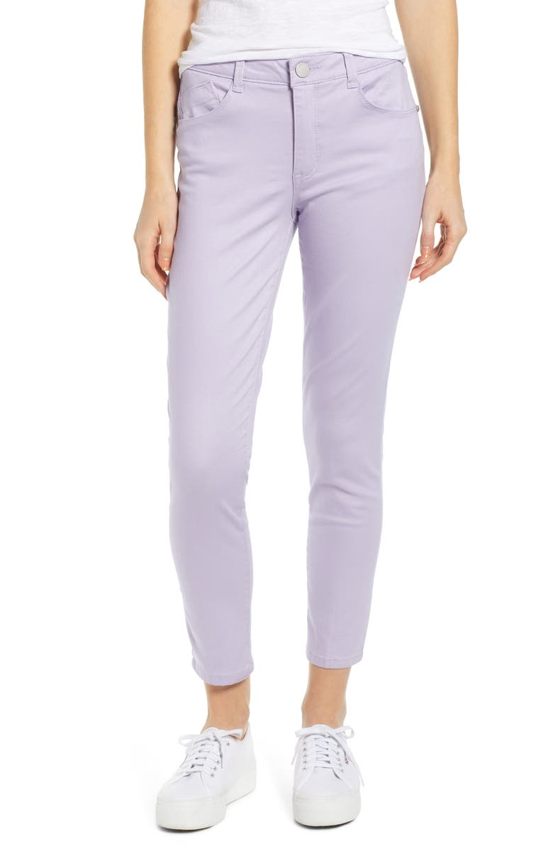 WIT & WISDOM Ab-Solution High Waist Ankle Skinny Pants, Main, color, LAVENDER DUST