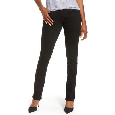 Jag Jeans Peri Pull-On Stretch Straight Leg Jeans, Black