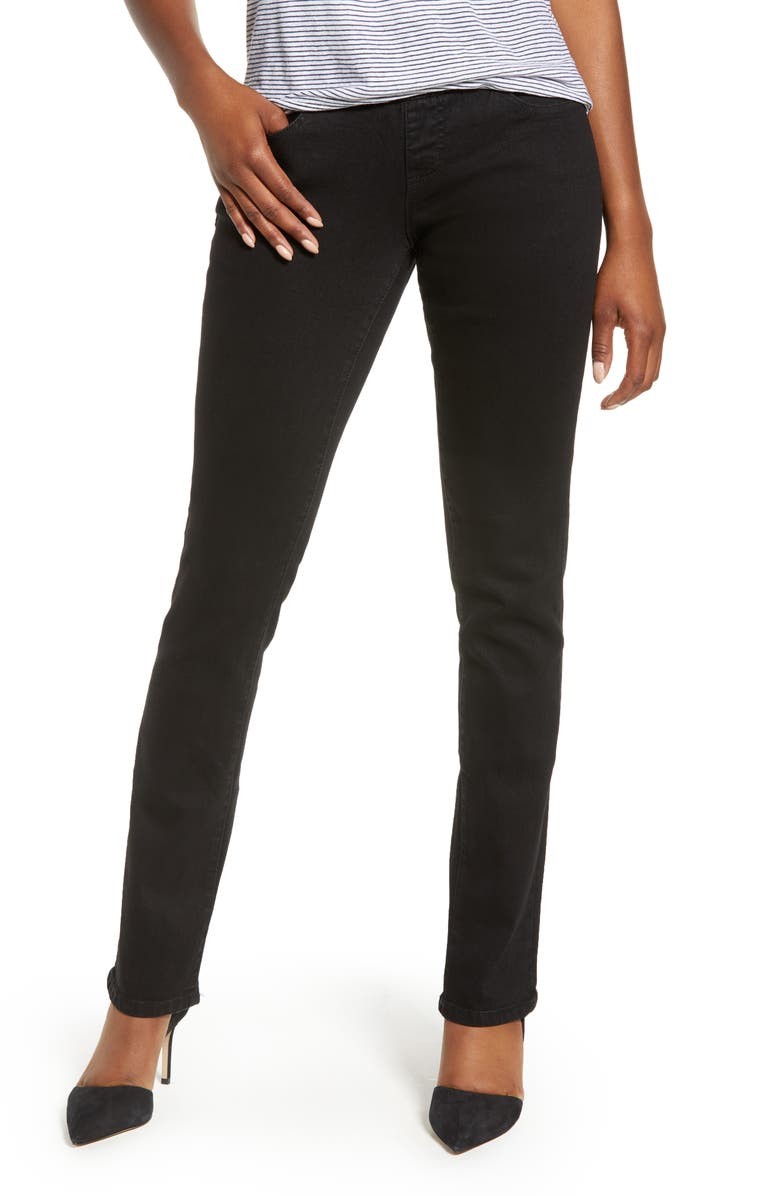 JAG JEANS Peri Pull-On Stretch Straight Leg Jeans, Main, color, BLACK