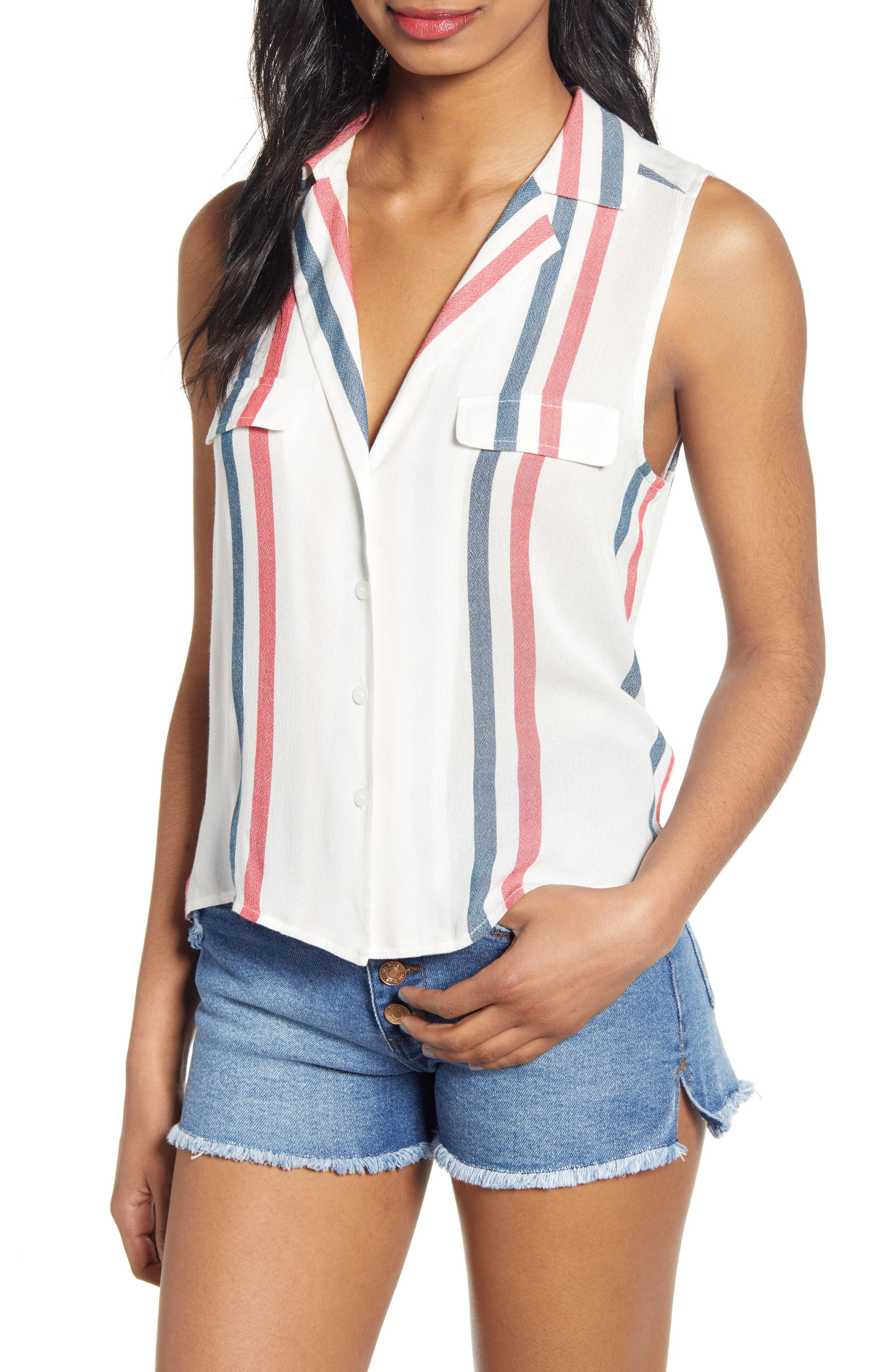 Plus Size Bp. Sleeveless Shirt, Red