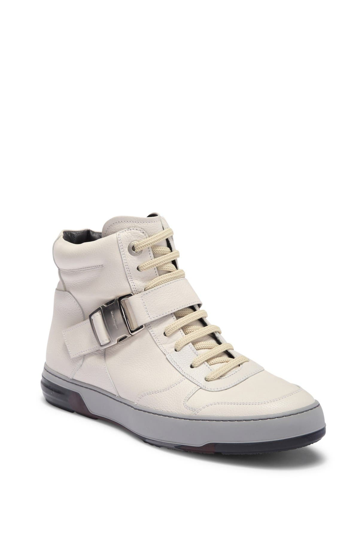 Mulberry High-Top Leather Sneaker