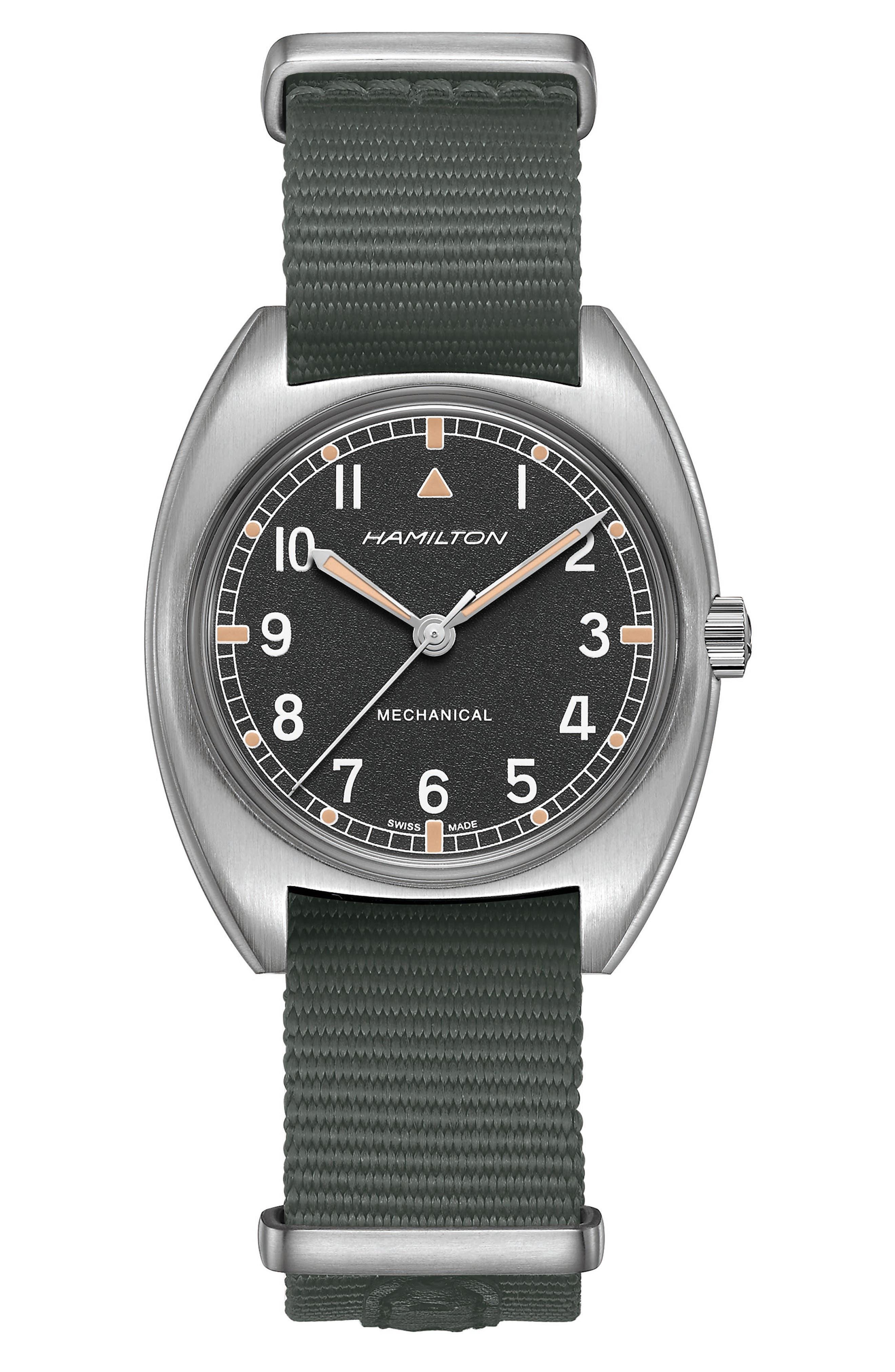 Khaki Aviator Pilot Pioneer Nato Strap Watch