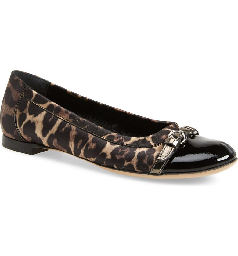 AGL Cap Toe Ballet Flat, Main, color, LEOPARD