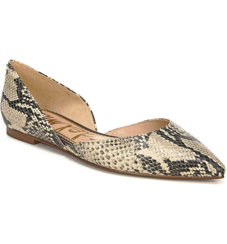 SAM EDELMAN Rodney Pointy Toe d'Orsay Flat, Main, color, 023