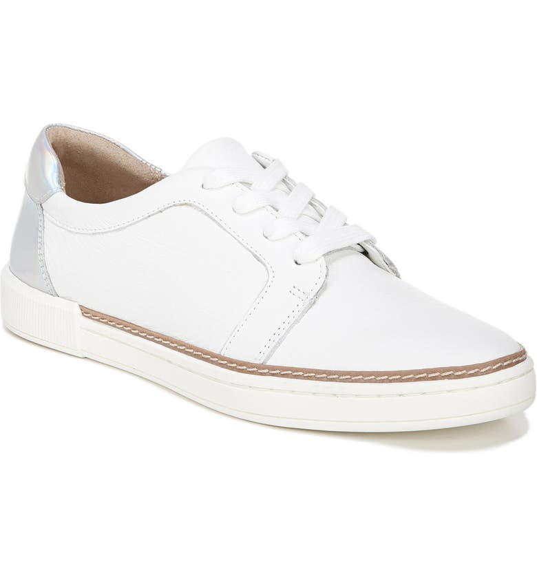 NATURALIZER Jane Sneaker, Main, color, WHITE/ IRIDESCENT LEATHER