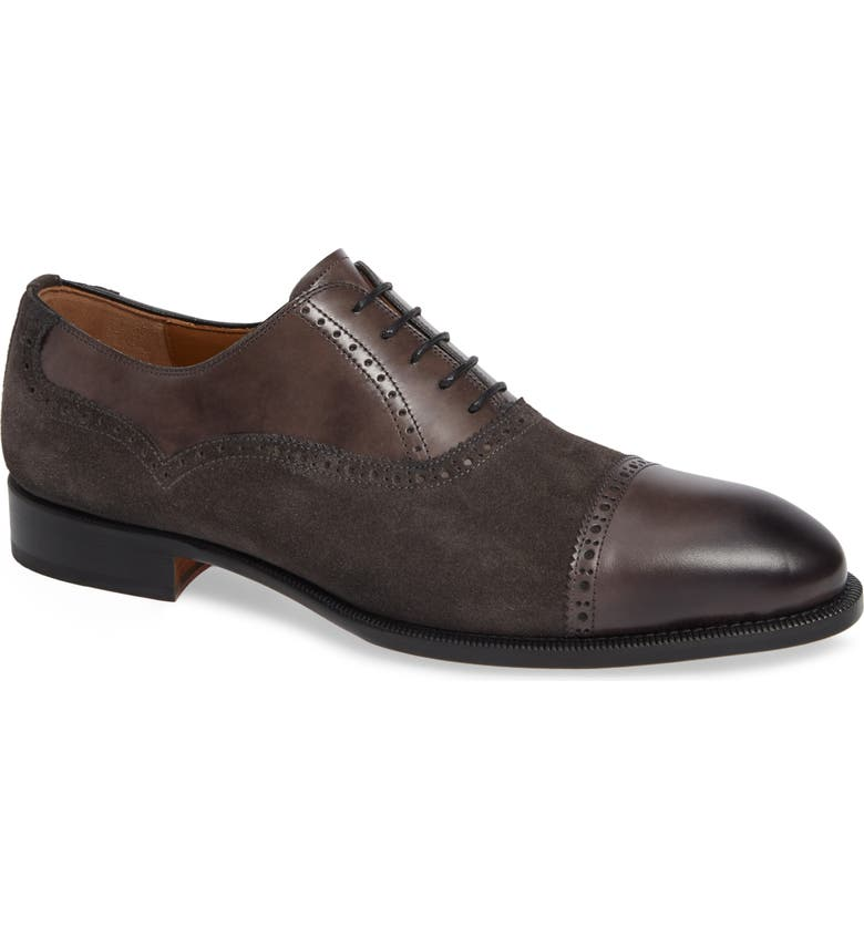 MAGNANNI 'Lamont' Cap Toe Oxford, Main, color, 020