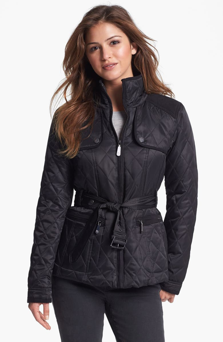VINCE CAMUTO Quilted Field Jacket, Main, color, 001