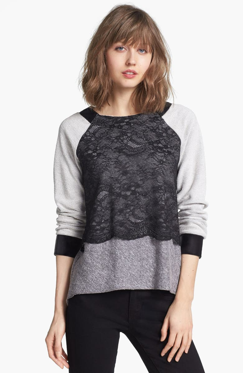 ROBBI & NIKKI Mixed Media Sweatshirt, Main, color, 050