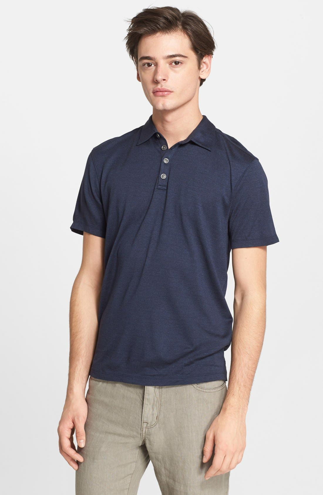 Hampton Slim Fit Silk & Cotton Polo