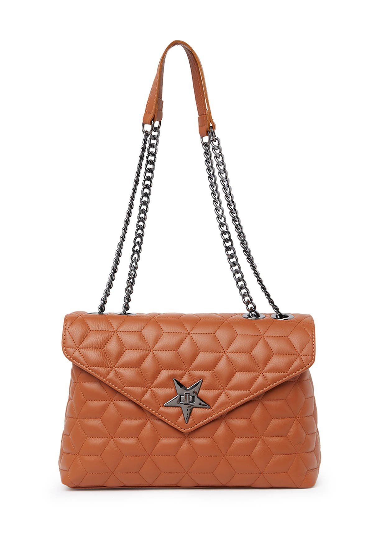 Image of Roberta M Quilted Shoulder Bag