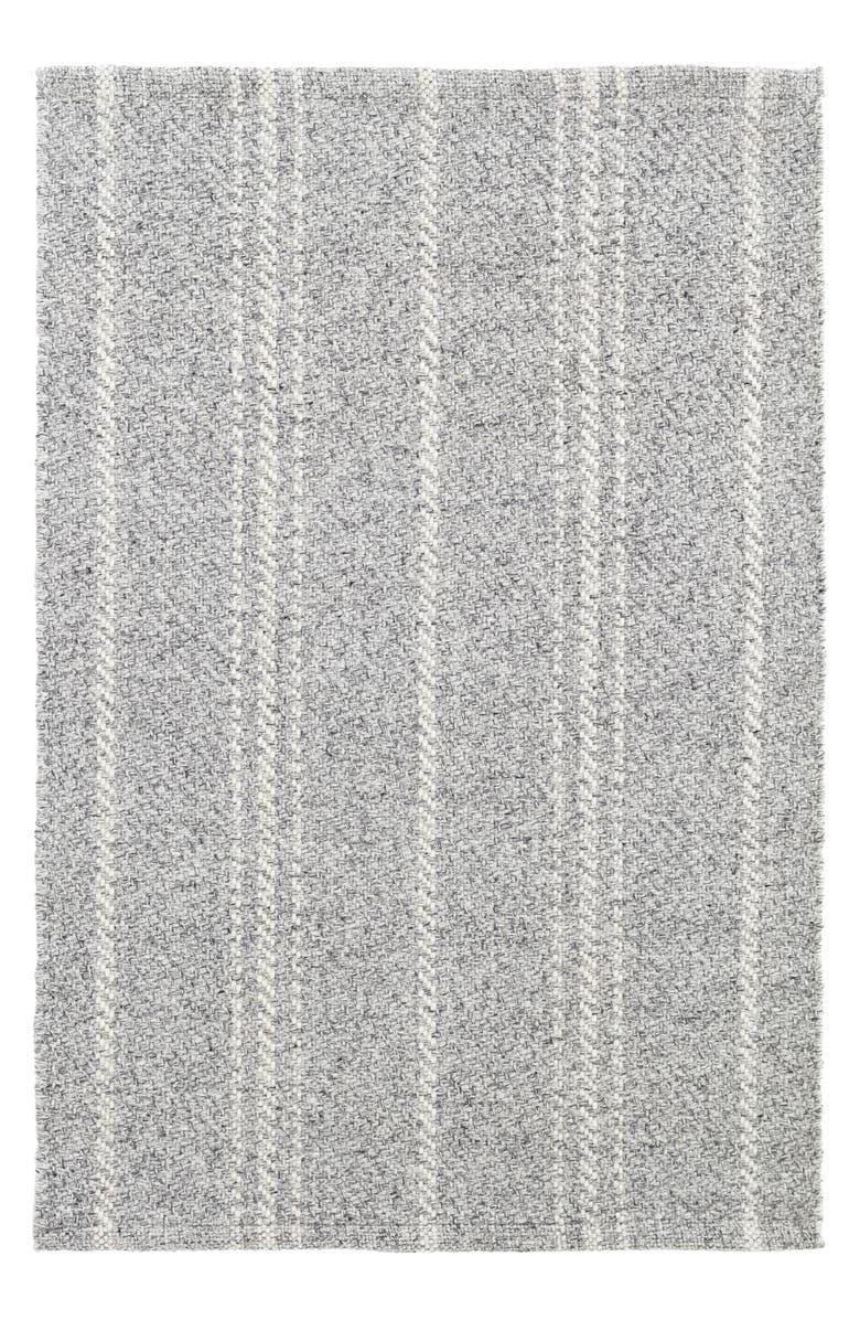 DASH & ALBERT Mélange Stripe Indoor/Outdoor Rug, Main, color, GREY/ IVORY