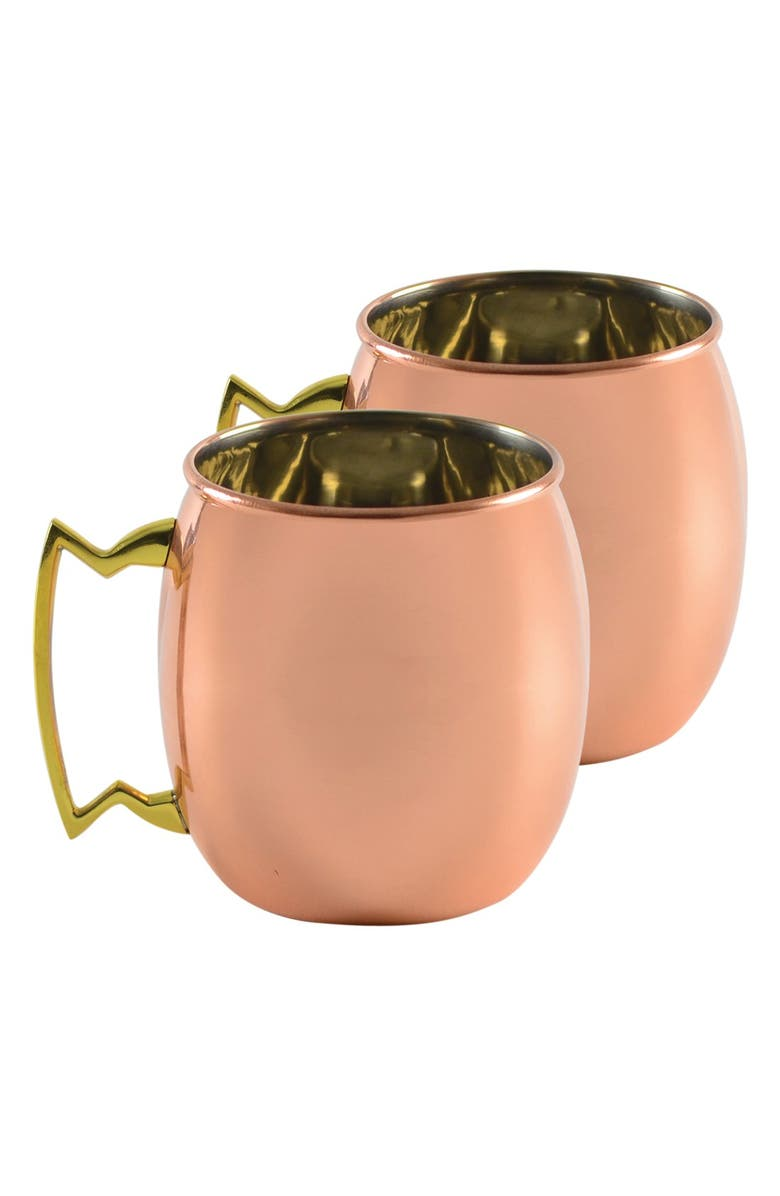 10 STRAWBERRY STREET 'Moscow Mule' Copper Mugs, Main, color, 220