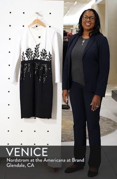 Beaded Long Sleeve Cocktail Dress, sales video thumbnail