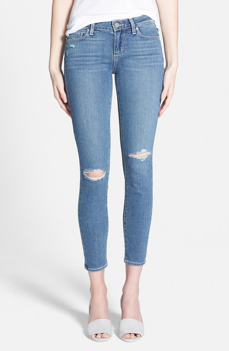 PAIGE Denim 'Transcend - Verdugo' Ultra Skinny Ankle Jeans, Main, color, 400