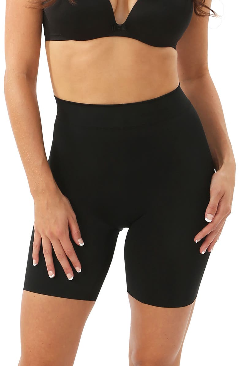 BELLY BANDIT<SUP>®</SUP> 'Mother Tucker - Shortie' High Waist Compression Shorts, Main, color, BLACK
