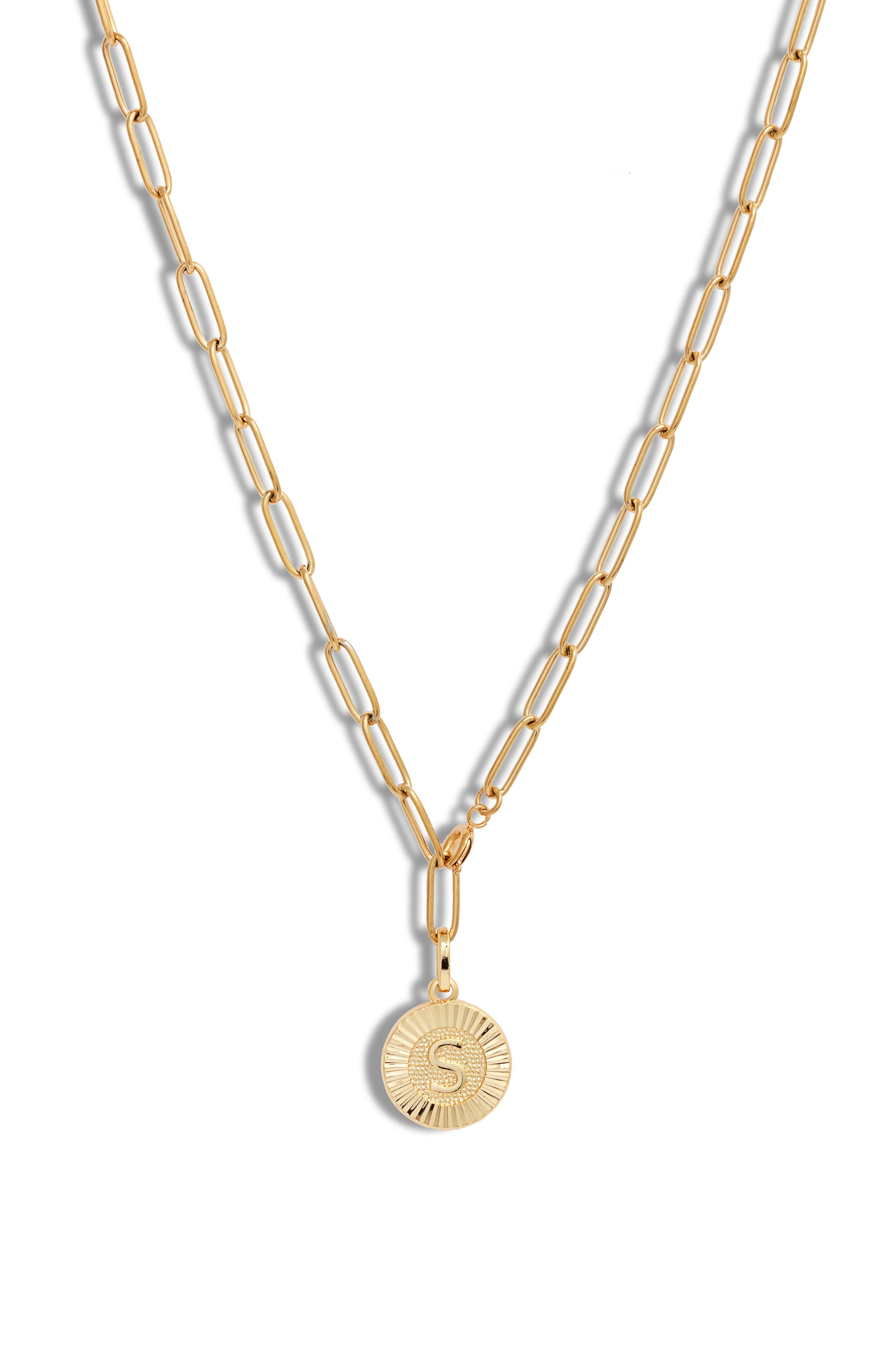 Initial Medallion Y-Necklace