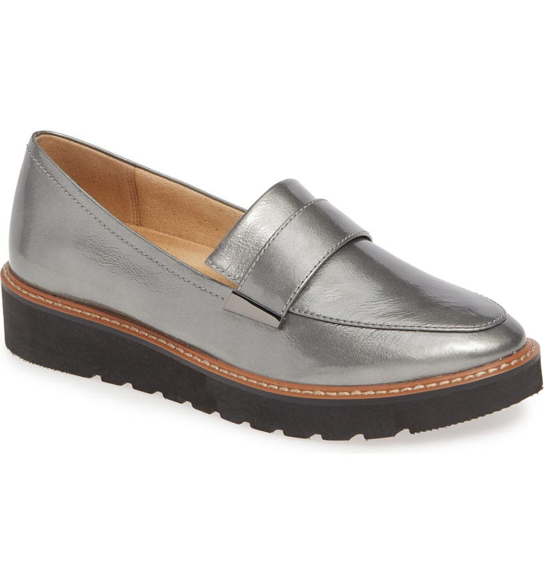 NATURALIZER Adiline Loafer, Main, color, PEWTER LEATHER
