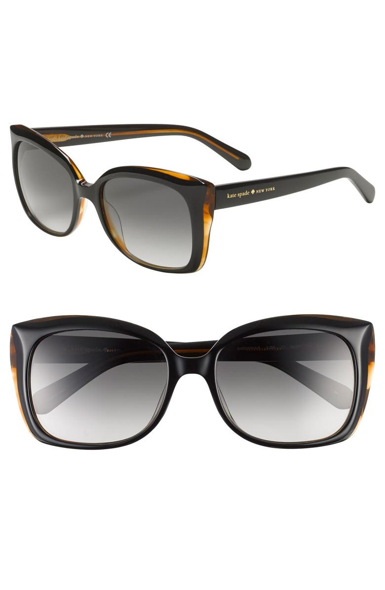 KATE SPADE NEW YORK 'gardes' 55mm sunglasses, Main, color, 001