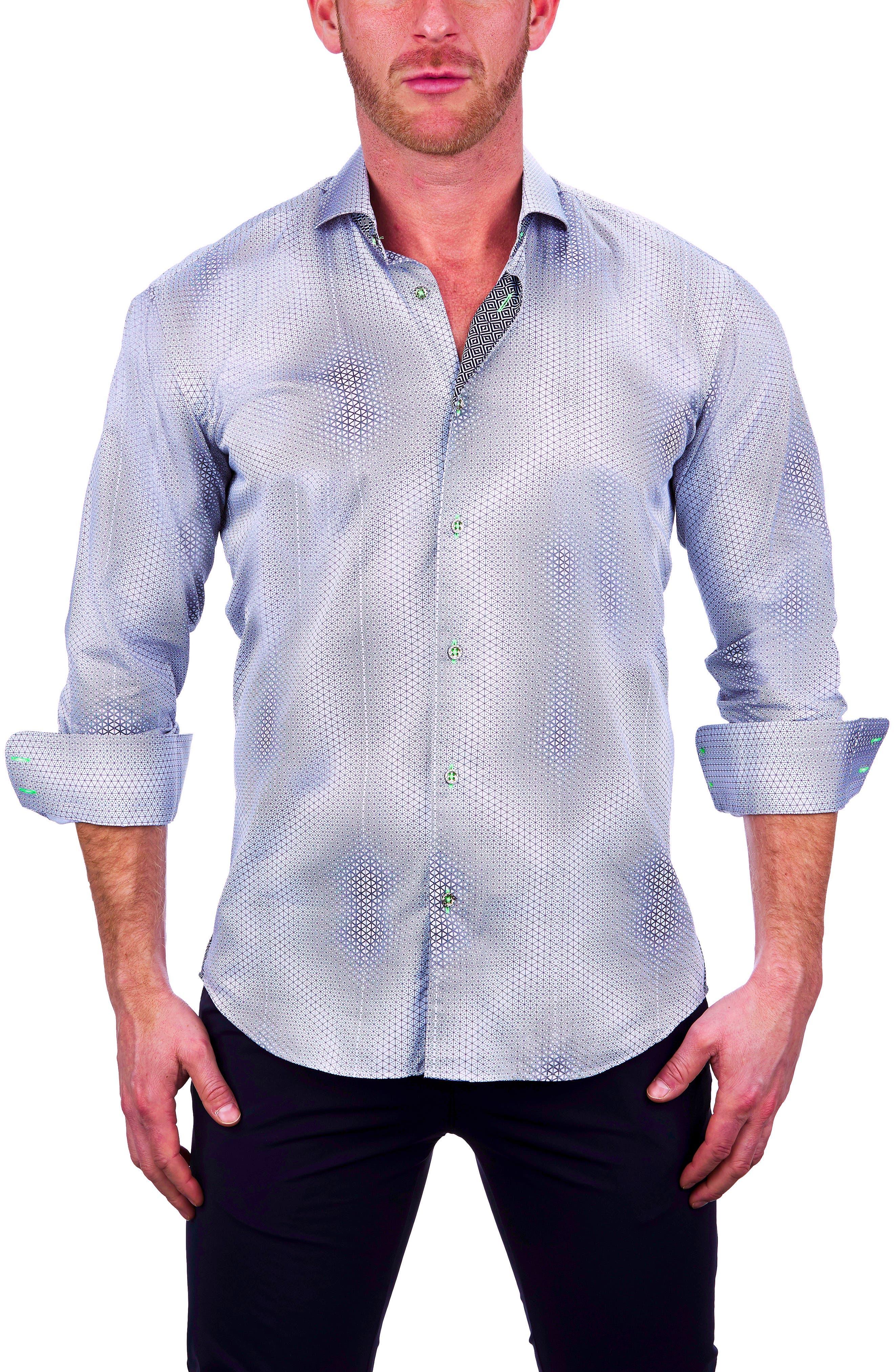 Einstein Dior White Button-Up Shirt