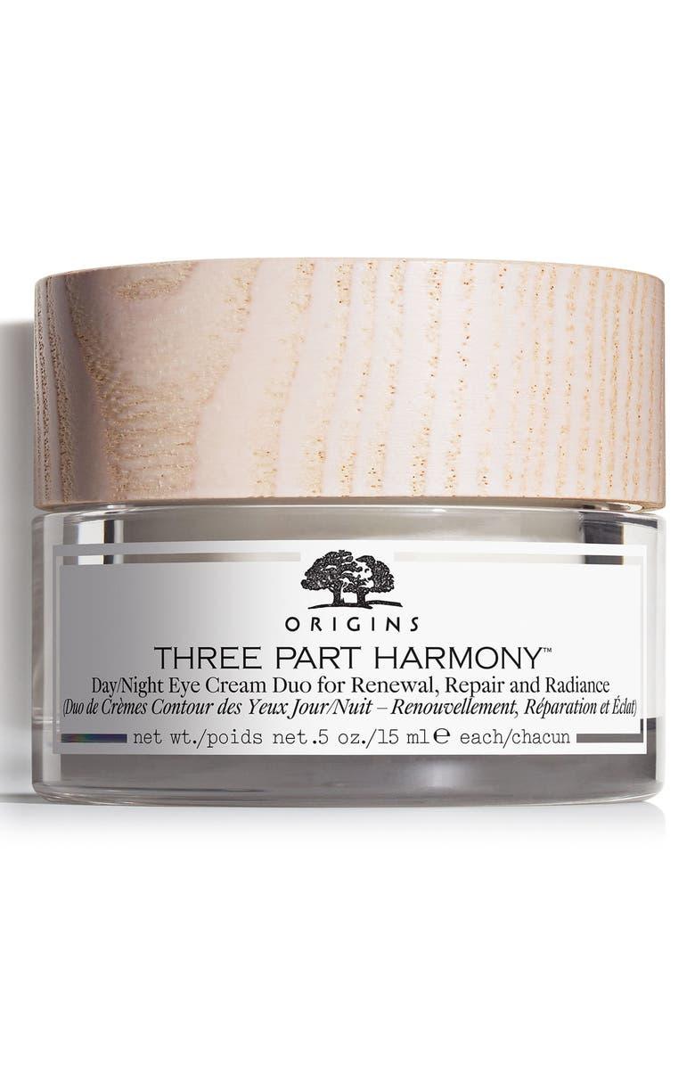 ORIGINS Three Part Harmony<sup>™</sup> Day & Night Eye Cream Duo, Main, color, NO COLOR