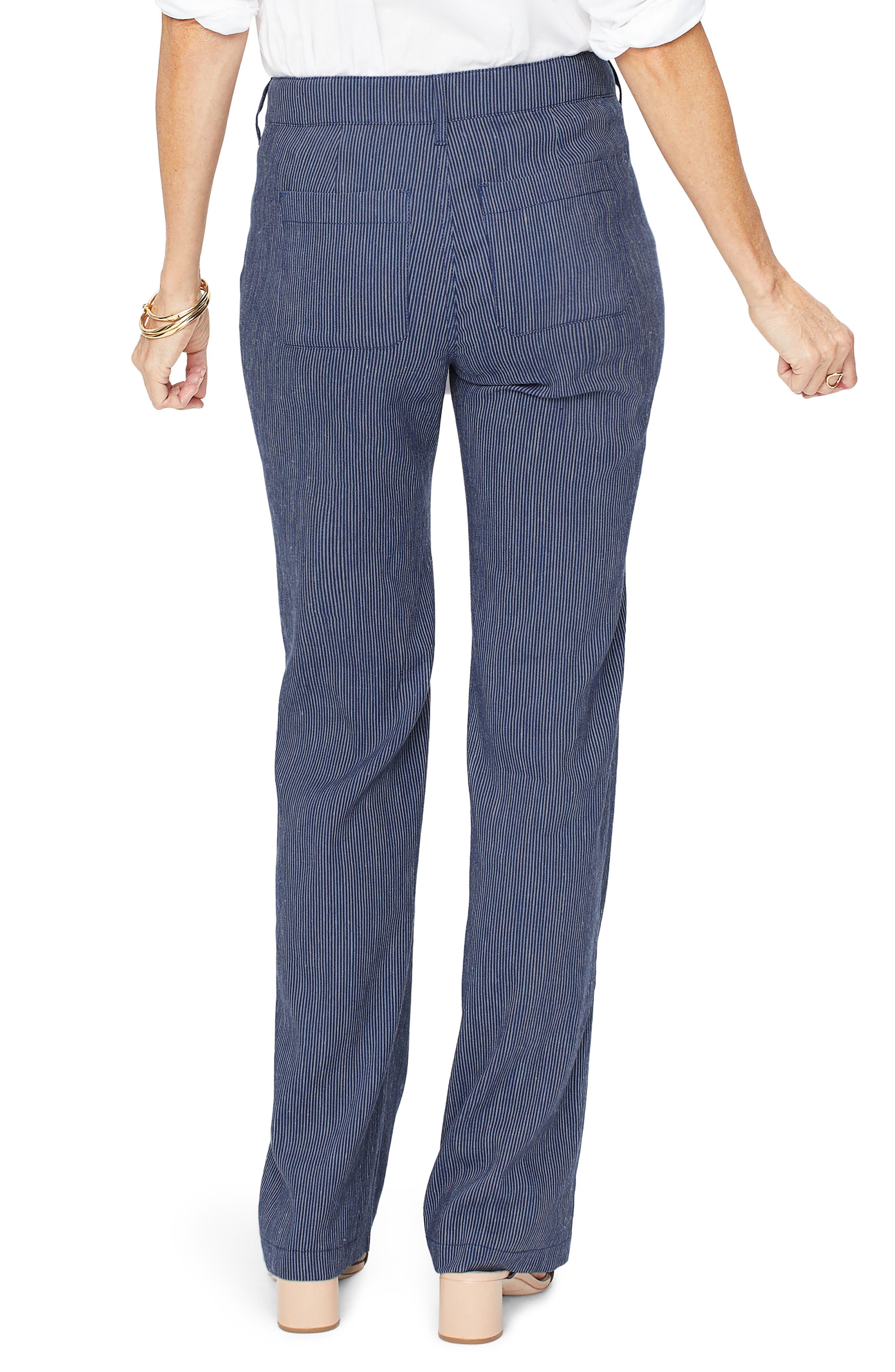 ,                             The Trouser Linen Blend Pants,                             Alternate thumbnail 2, color,                             AGUA STRIPE