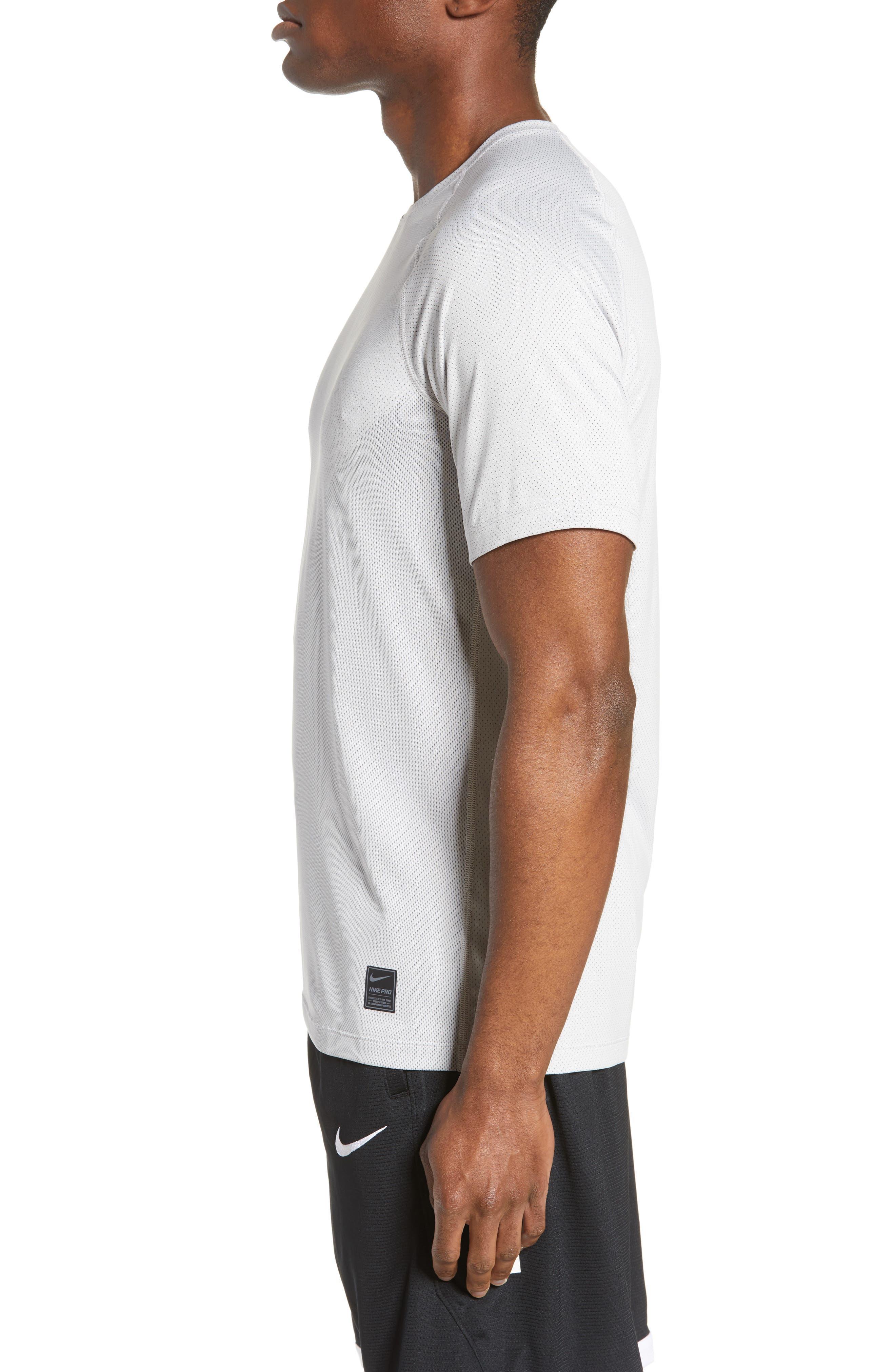 ,                             Pro Dri-FIT Perforated T-Shirt,                             Alternate thumbnail 3, color,                             VAST GREY/ GUNSMOKE/ VAST GREY