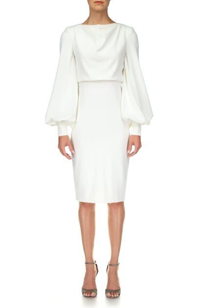 Badgley Mischka Dresses ODESSA LONG SLEEVE COCKTAIL DRESS