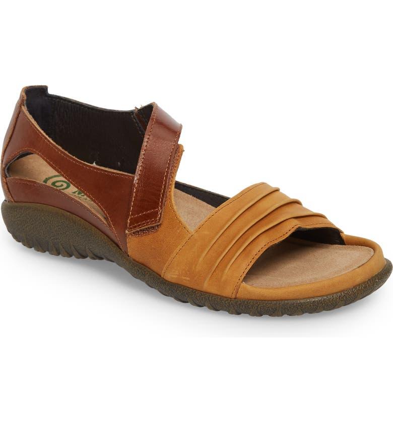 NAOT 'Papaki' Sandal, Main, color, OILY DUNE NUBUCK