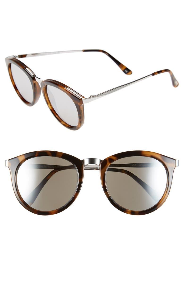 LE SPECS 'No Smirking' 50mm Round Sunglasses, Main, color, 200