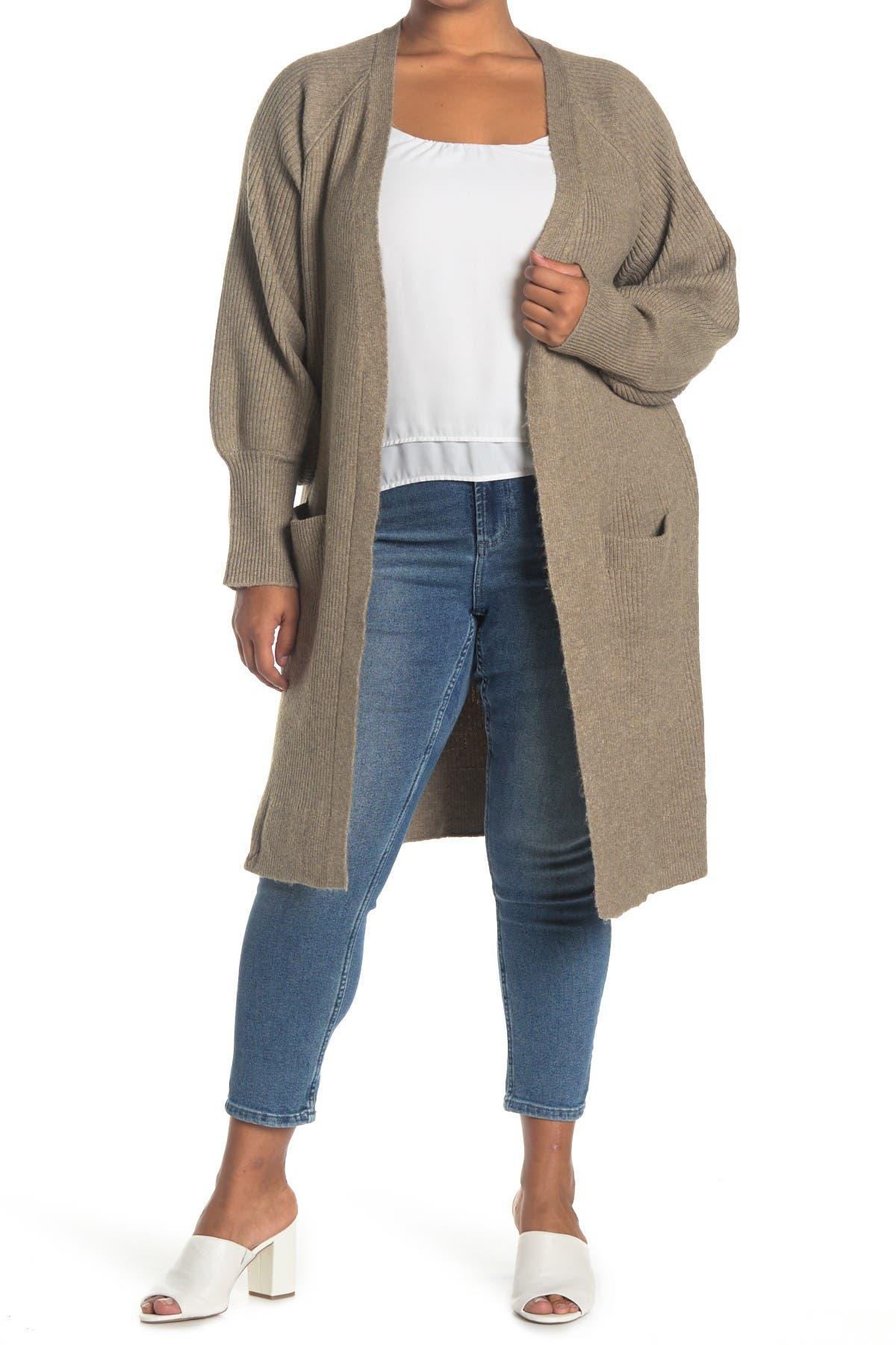 Image of Sweet Romeo Open Front Duster Cardigan