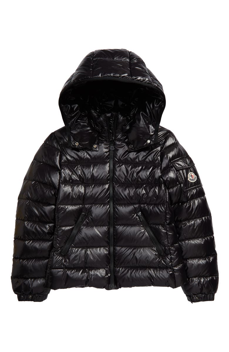 MONCLER Bady Water Resistant Down Hooded Puffer Jacket, Main, color, BLACK