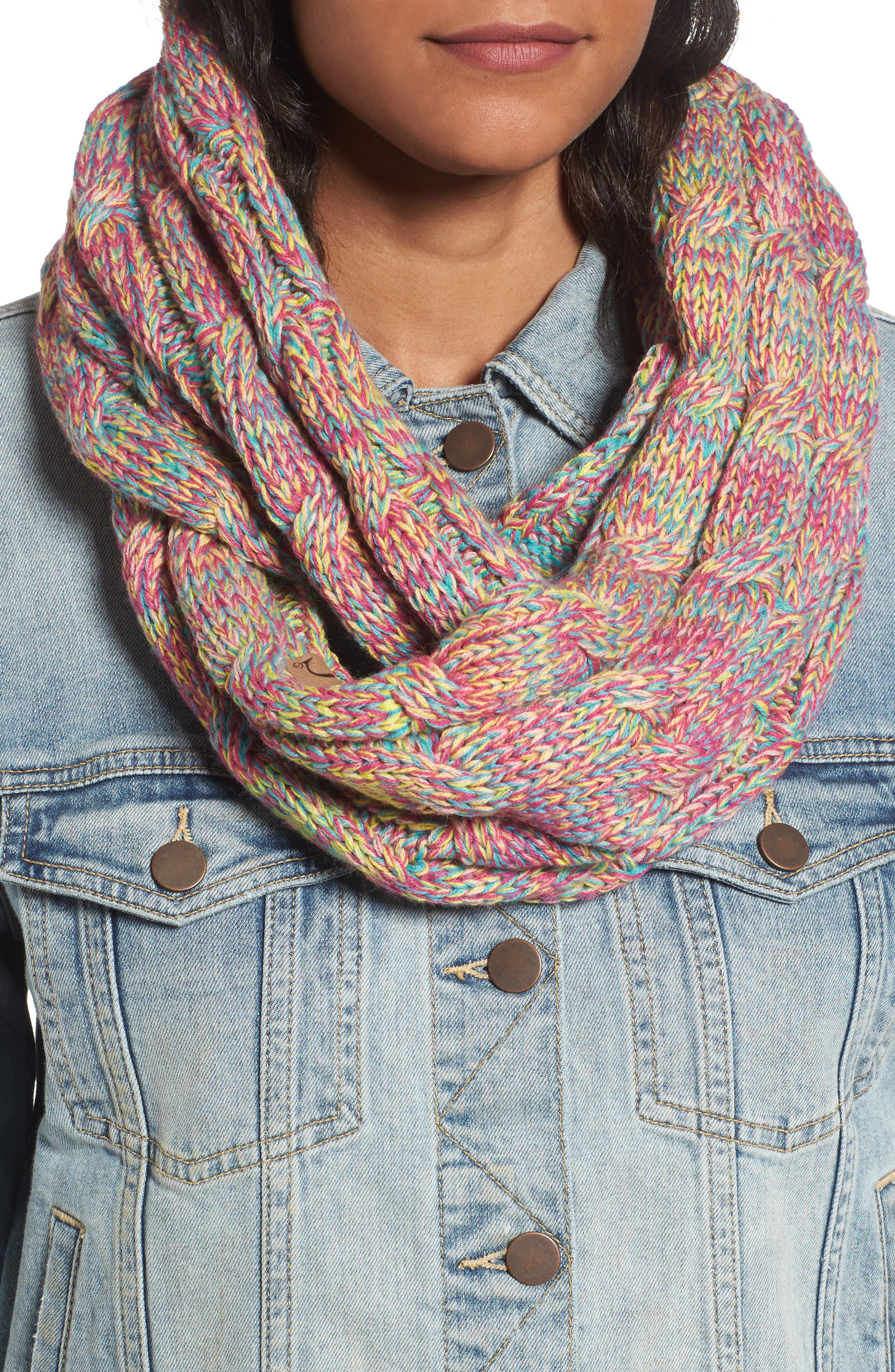 ,                             CC Knit Infinity Scarf,                             Main thumbnail 16, color,                             700