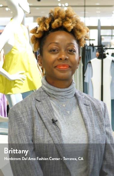 Kiki Leaf Print Chiffon Maxi Dress, sales video thumbnail