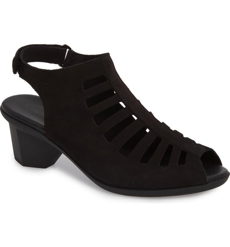 ARCHE Enexor Sandal, Main, color, NOIR NUBUCK