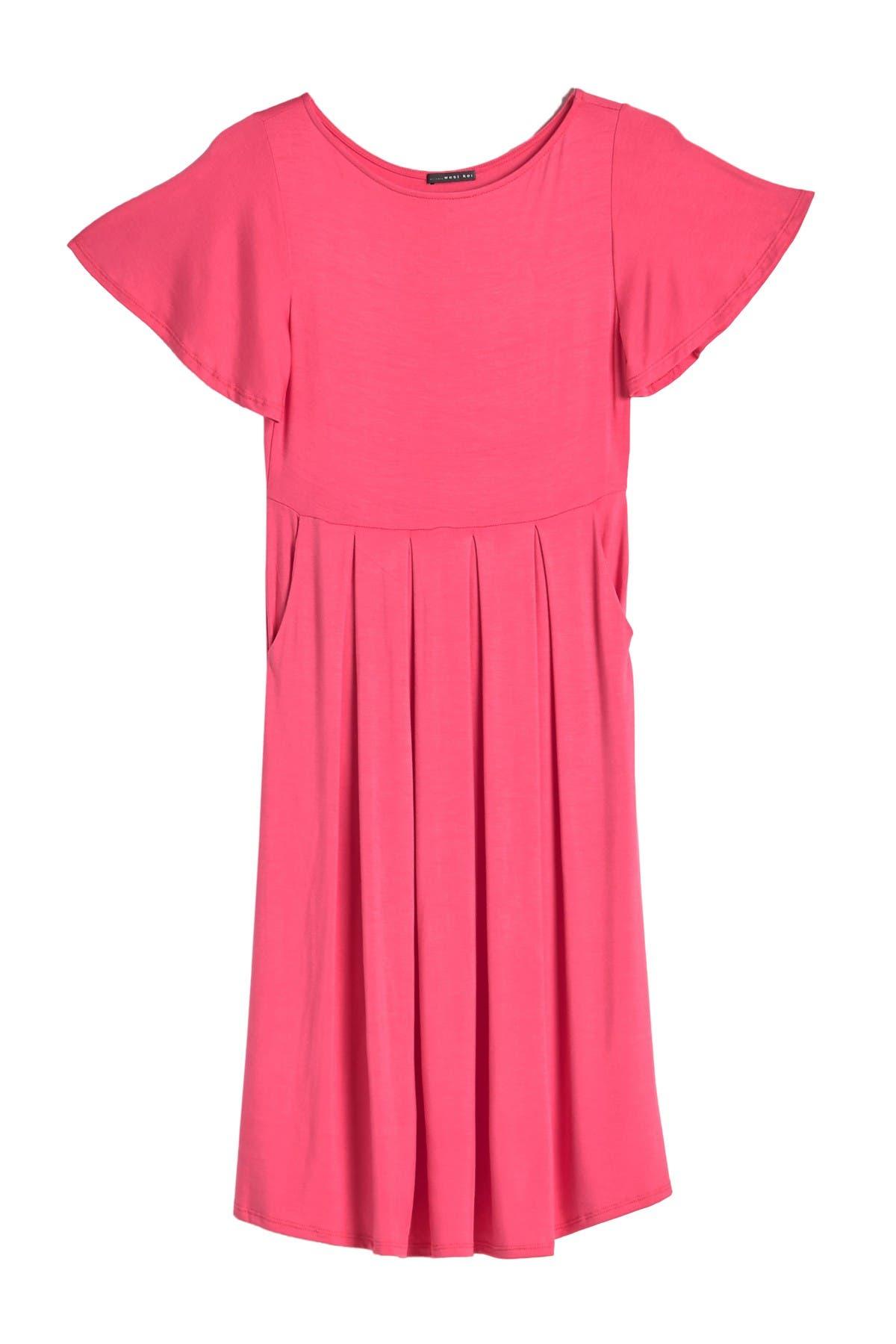 Image of WEST KEI Flutter Sleeve Pocket Dress