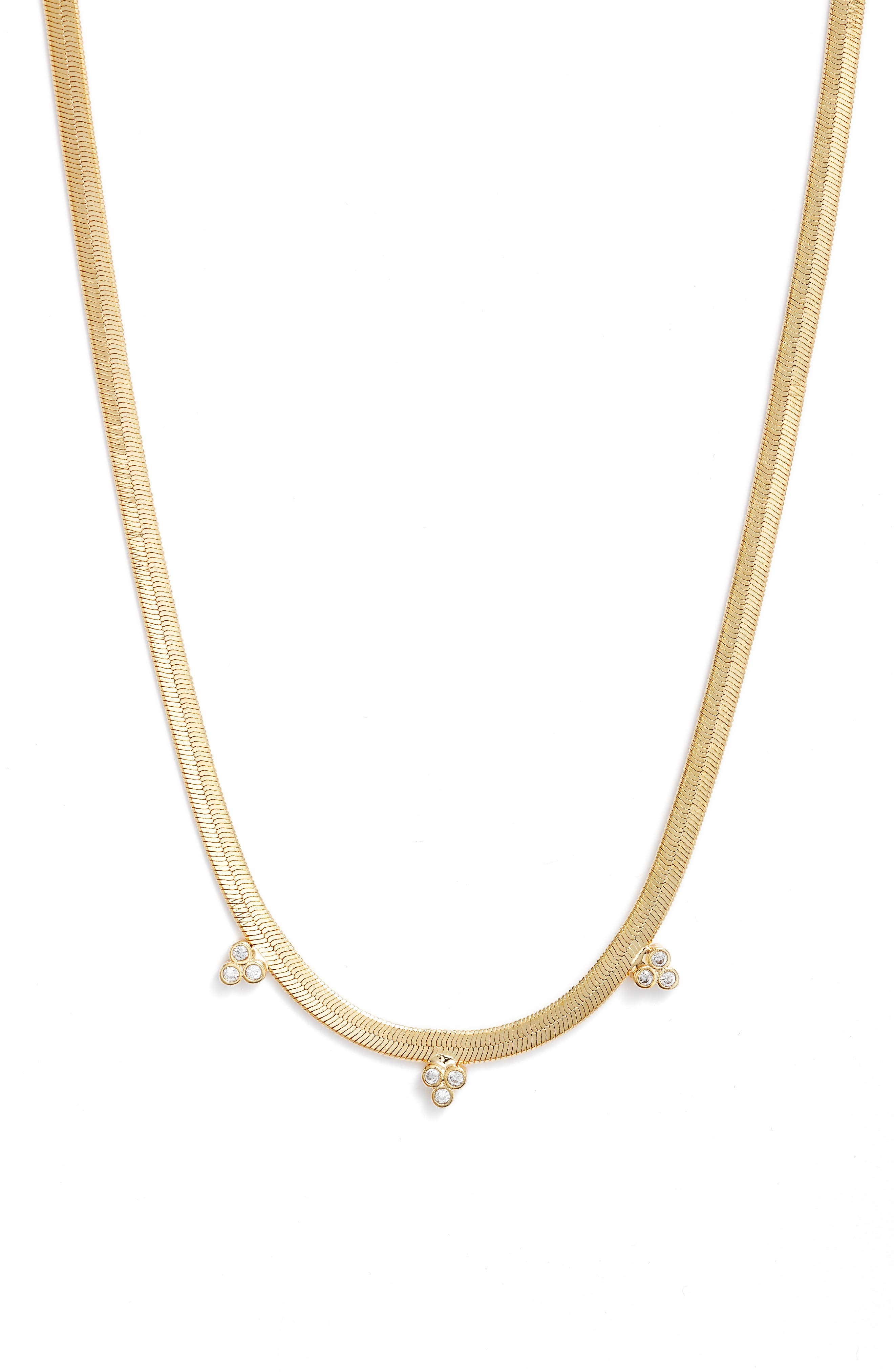 Shine Herringbone Chain Necklace