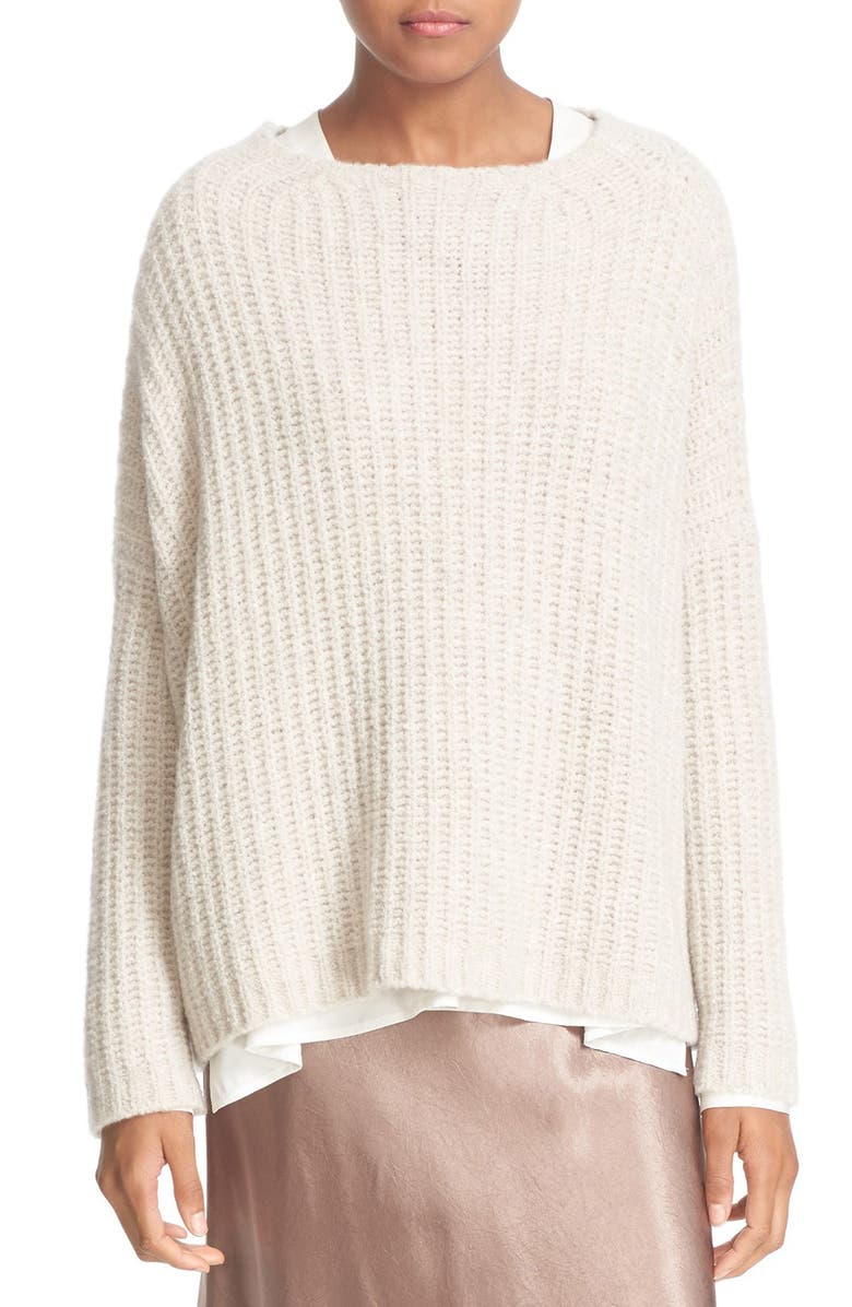 VINCE Ladder Stitch Cashmere Blend Pullover, Main, color, 250