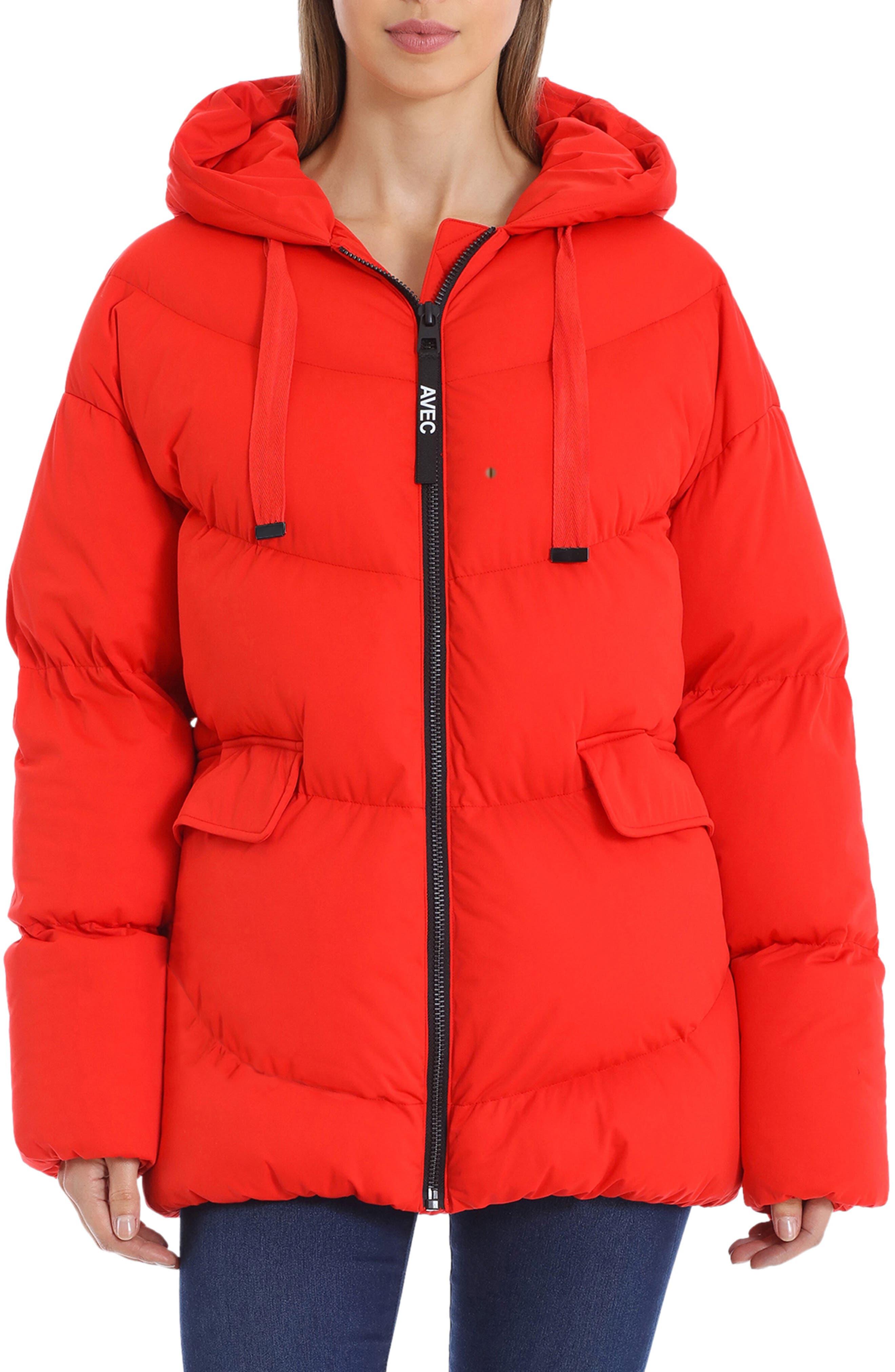 Image of AVEC LES FILLES Water Resistant Hooded Cozy Duvet Puffer Jacket