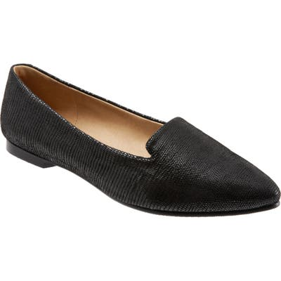 Trotters Harlowe Pointy Toe Loafer, Black