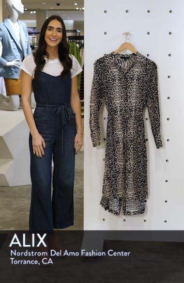 Anya Feline Long Sleeve Shirtdress, sales video thumbnail