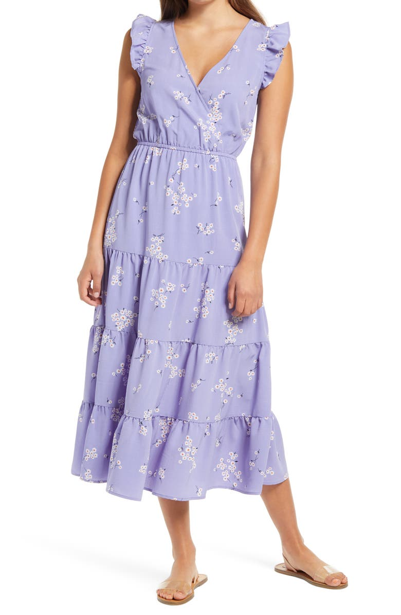 ONE CLOTHING Tiered Maxi Dress, Main, color, 532