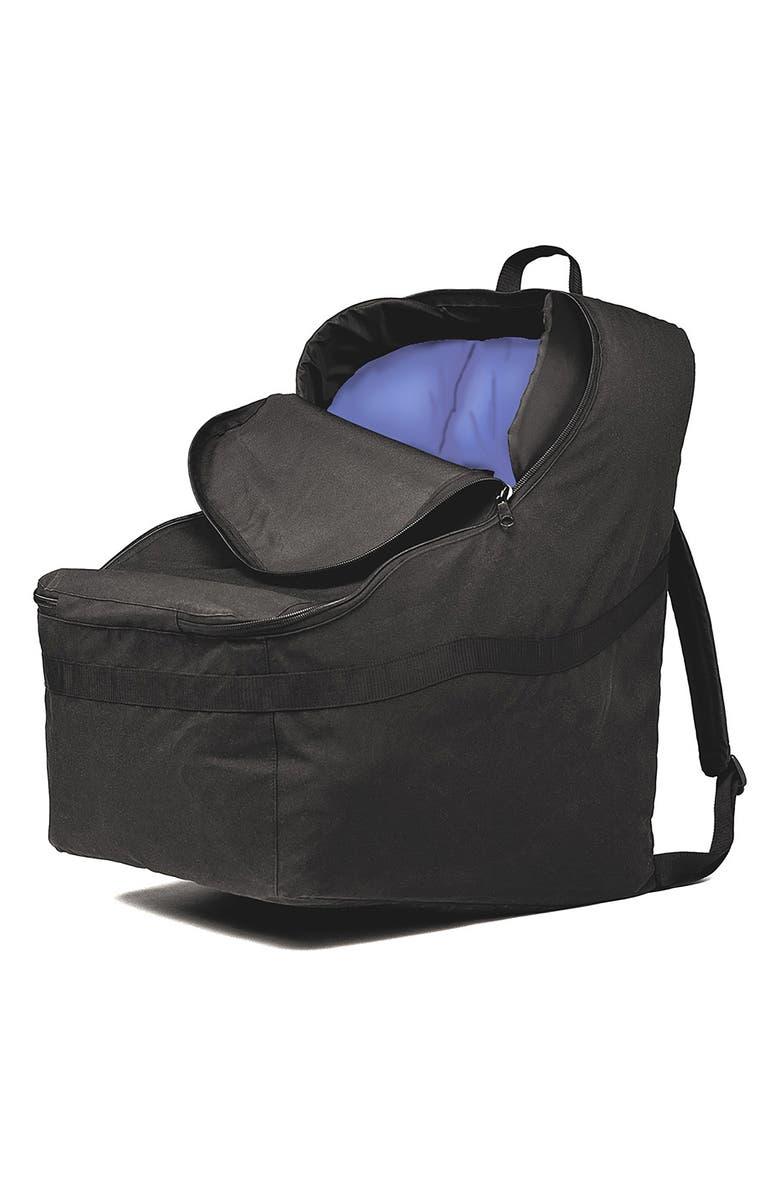 J.L. CHILDRESS Ultimate Padded Backpack Car Seat Travel Bag, Main, color, BLACK