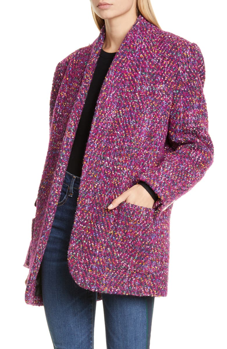 VERONICA BEARD Crispin Tweed Coat, Main, color, MULTI
