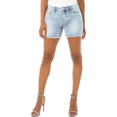 Liverpool Vickie Frayed Denim Shorts, Blue